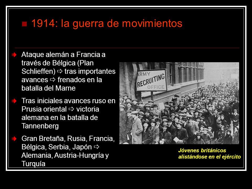 1914: la guerra de movimientos