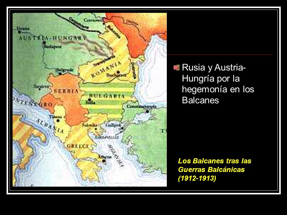 Rusia y Austria-Hungría por la hegemonía en los Balcanes