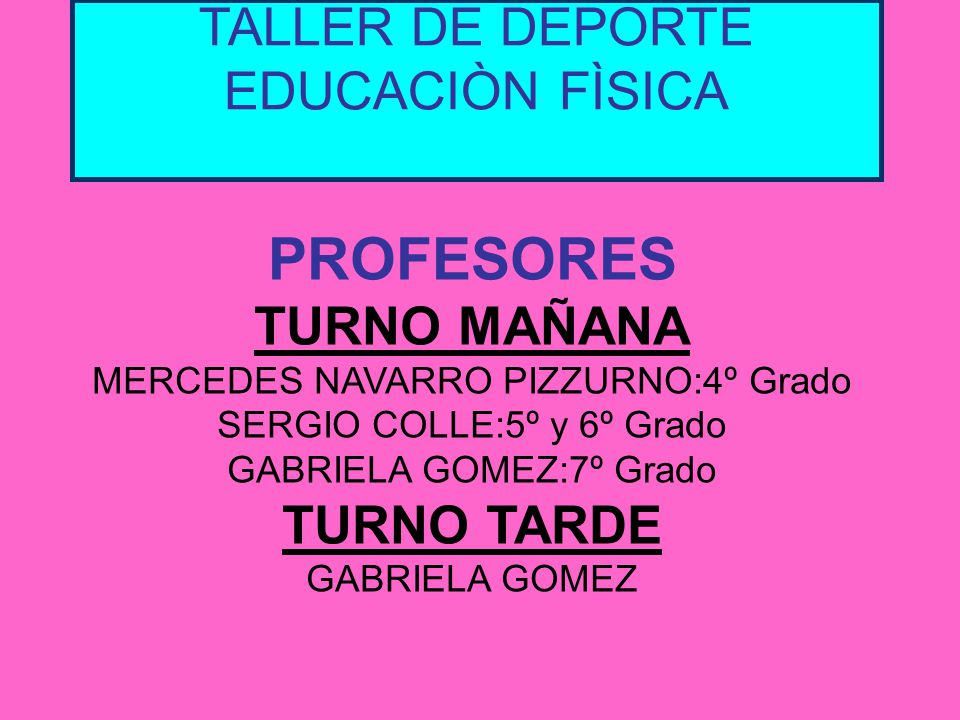 TALLER DE DEPORTE EDUCACIÒN FÌSICA