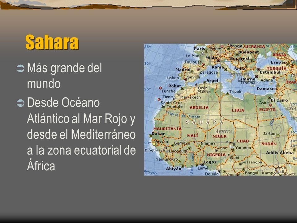 Sahara Más grande del mundo