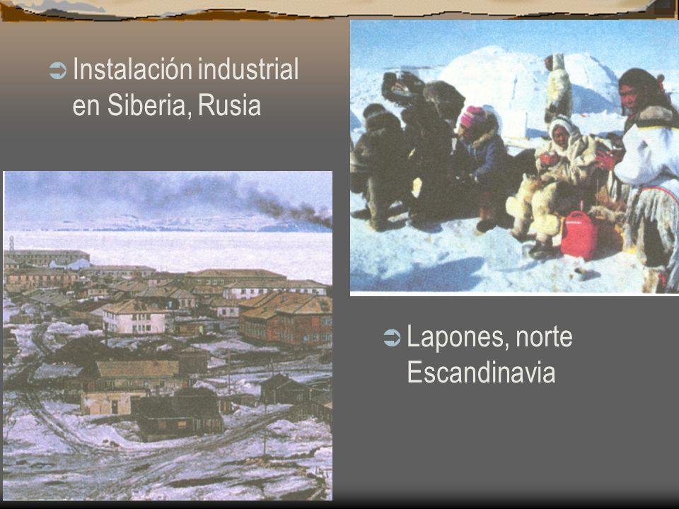 Instalación industrial en Siberia, Rusia