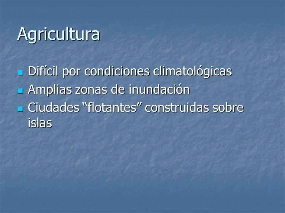 Agricultura Difícil por condiciones climatológicas