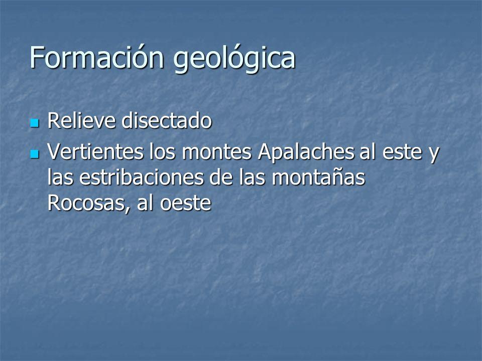 Formación geológica Relieve disectado