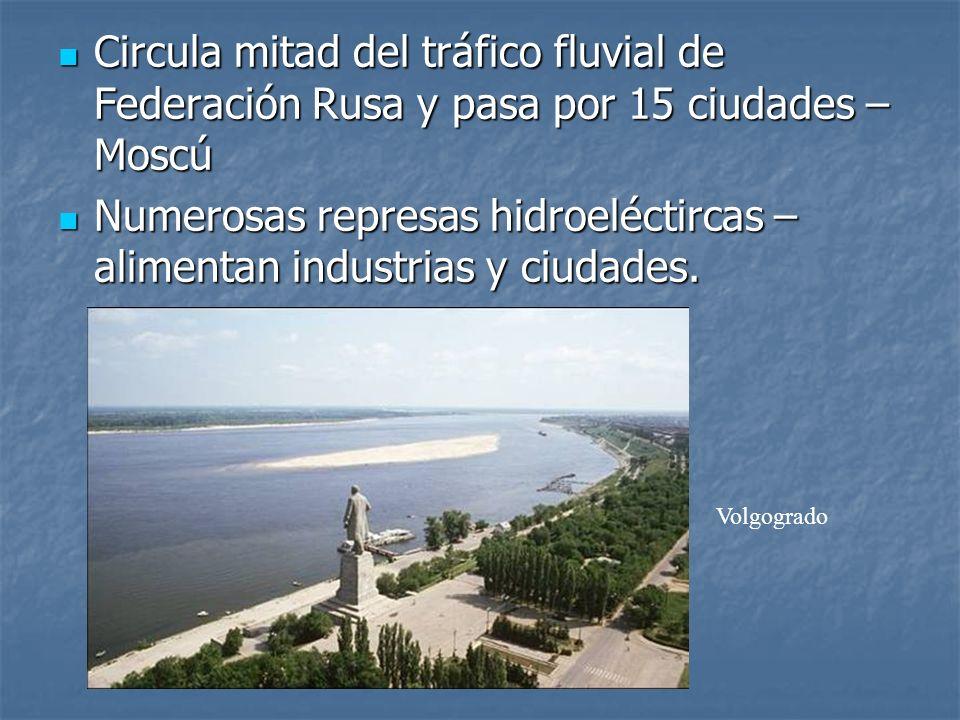 Numerosas represas hidroeléctircas – alimentan industrias y ciudades.