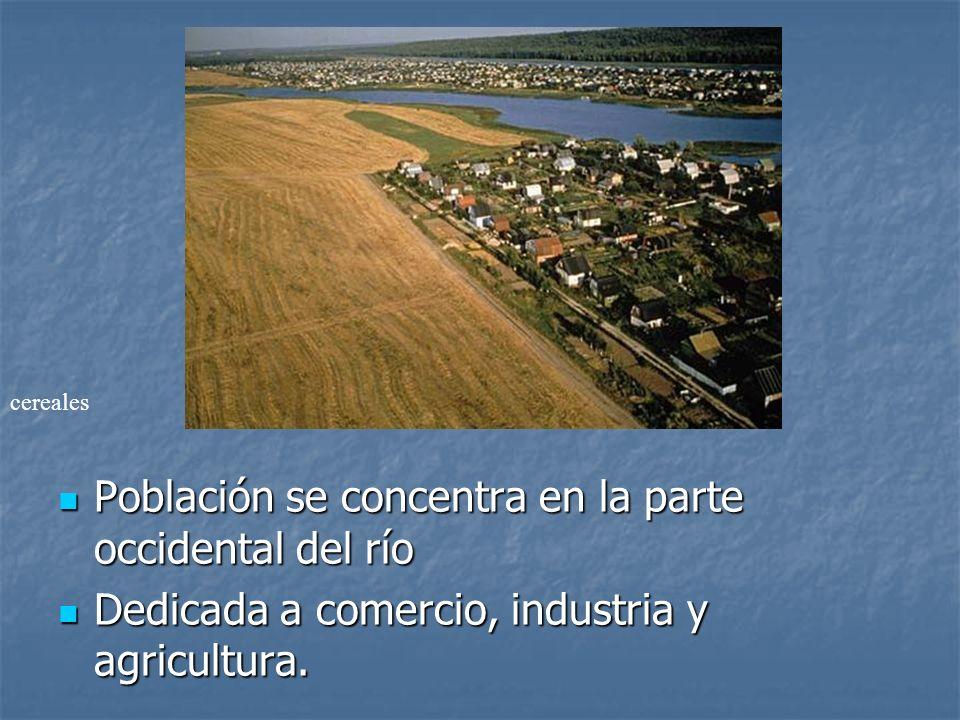 Población se concentra en la parte occidental del río