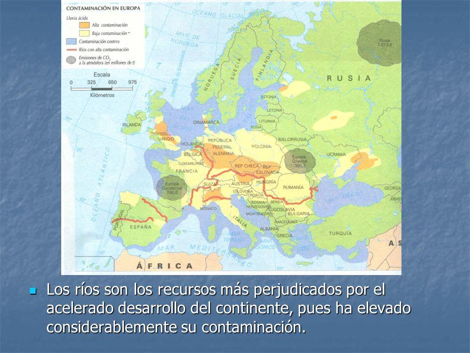Los ríos son los recursos más perjudicados por el acelerado desarrollo del continente, pues ha elevado considerablemente su contaminación.