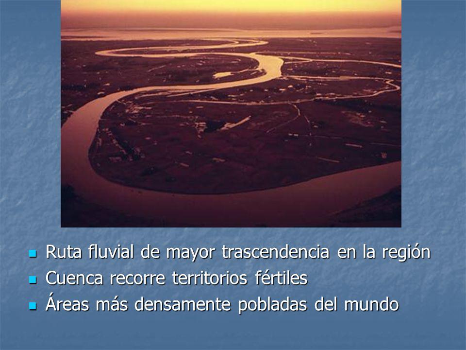 Ruta fluvial de mayor trascendencia en la región