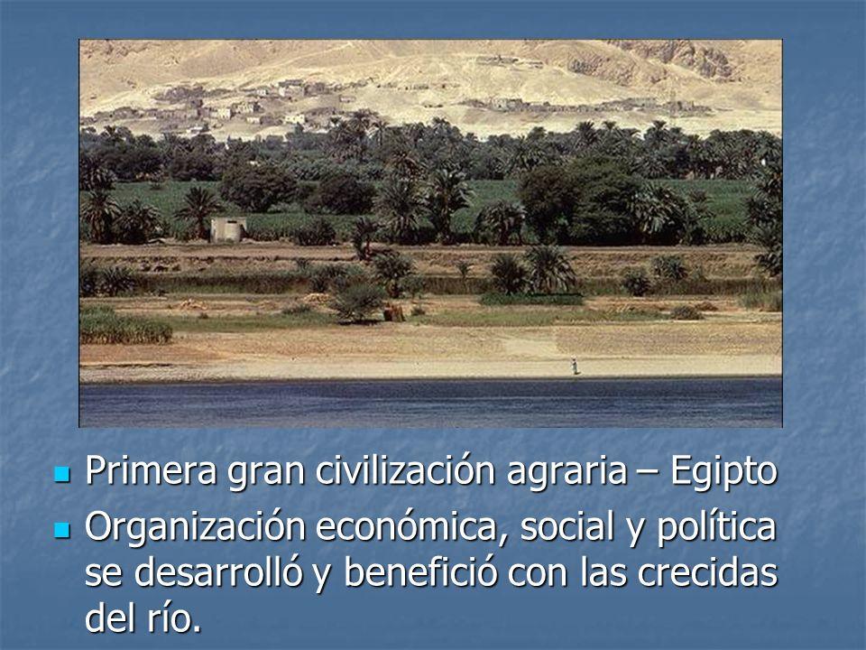 Primera gran civilización agraria – Egipto