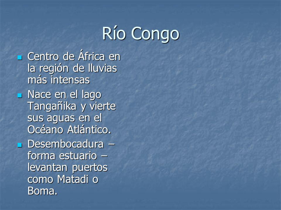 Río Congo Centro de África en la región de lluvias más intensas