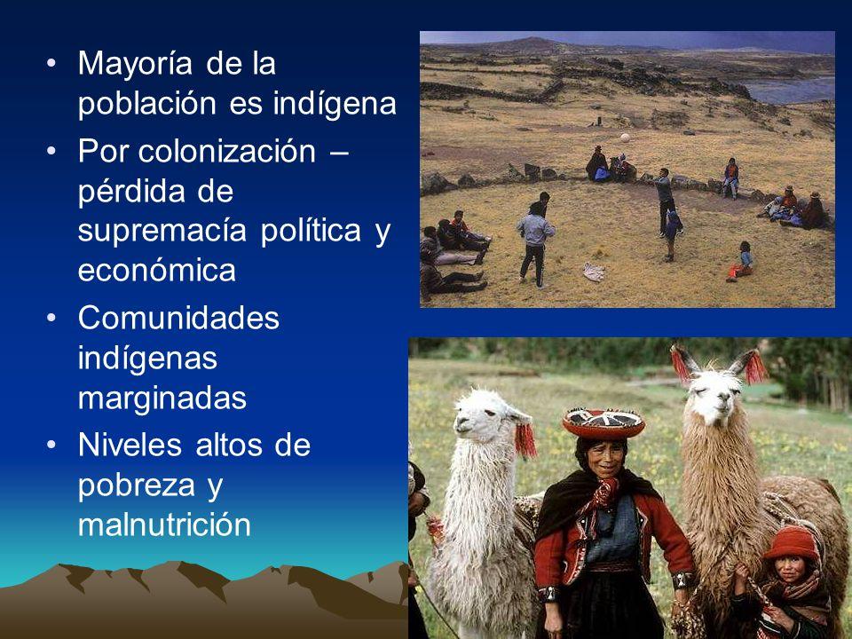Mayoría de la población es indígena