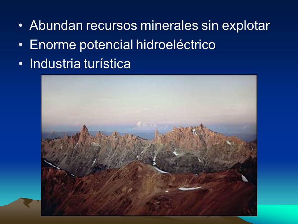 Abundan recursos minerales sin explotar