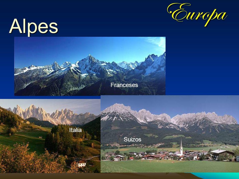 Europa Alpes Franceses Italia Suizos