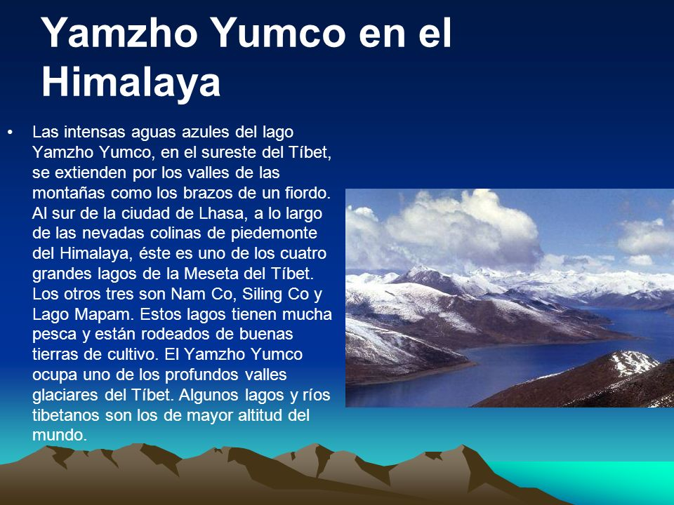 Yamzho Yumco en el Himalaya