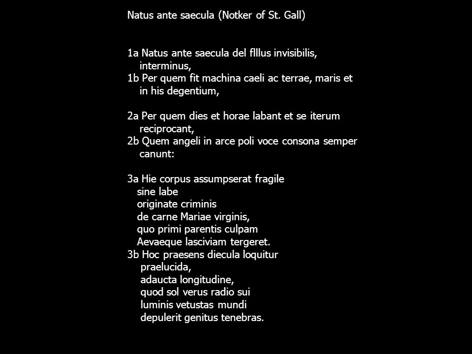 Natus ante saecula (Notker of St. Gall)