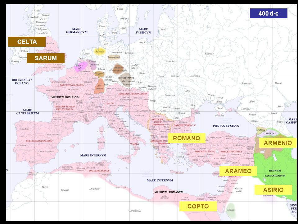 400 d-c CELTA SARUM ROMANO ARMENIO ARAMEO ASIRIO COPTO