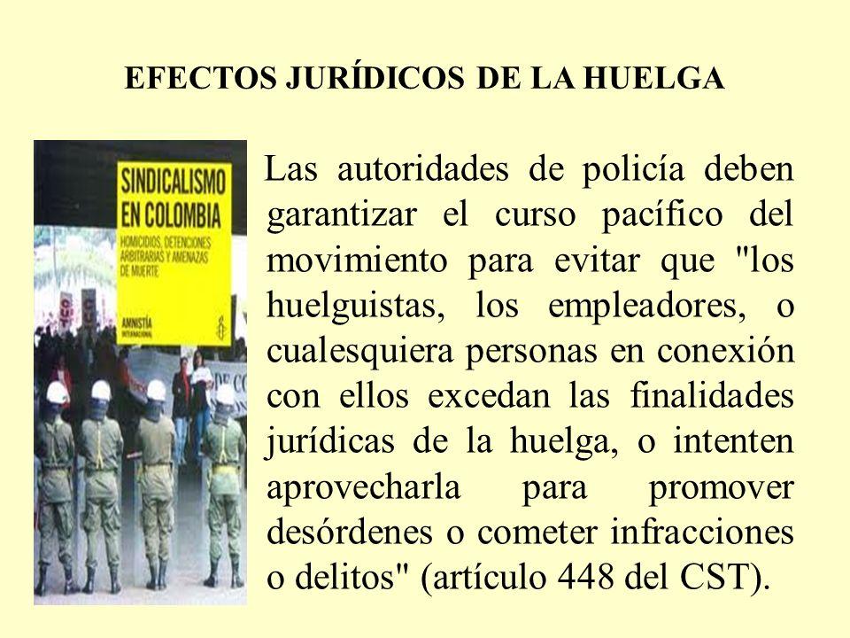 EFECTOS JURÍDICOS DE LA HUELGA