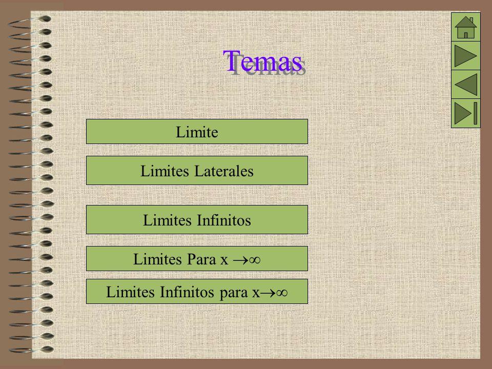 Limites Infinitos para x