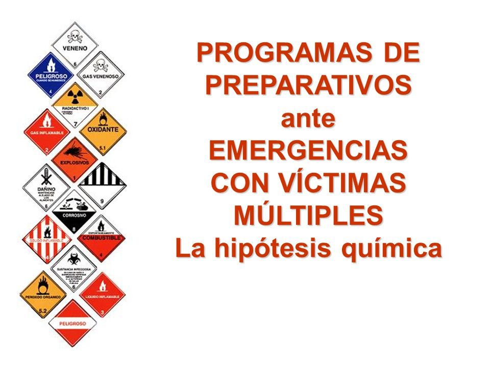 PROGRAMAS DE PREPARATIVOS CON VÍCTIMAS MÚLTIPLES