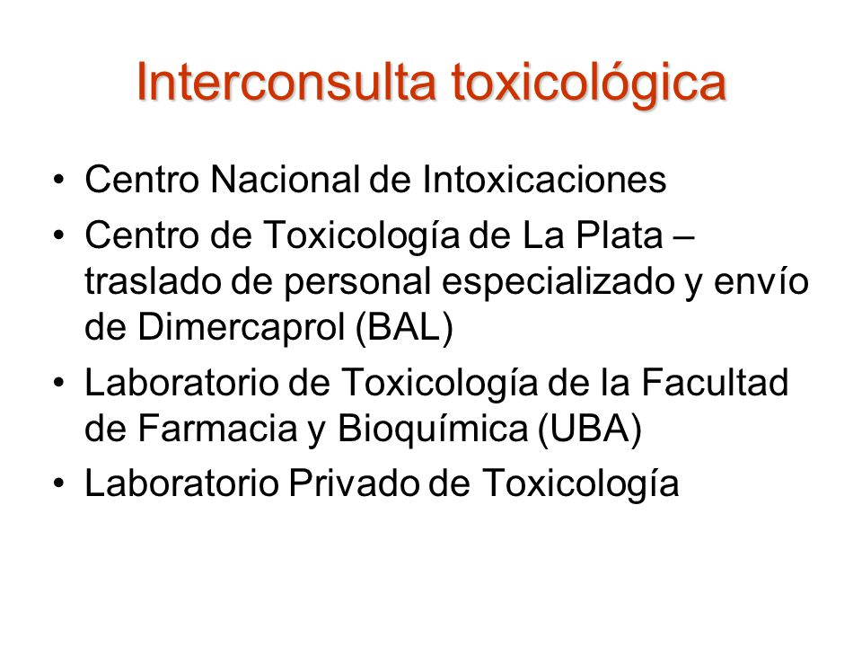 Interconsulta toxicológica