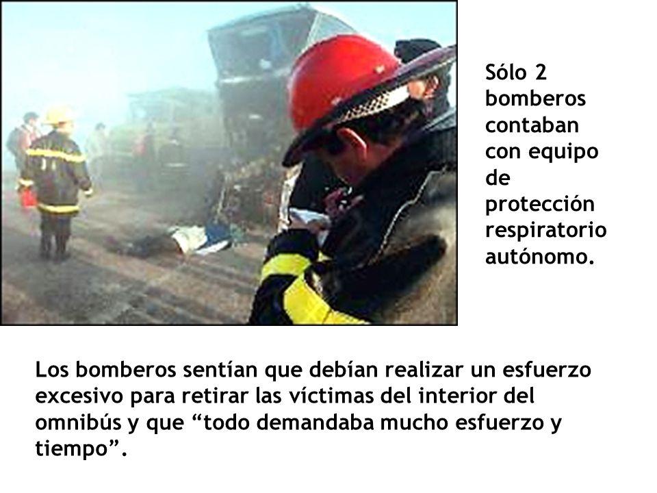 Sólo 2 bomberos contaban con equipo de protección