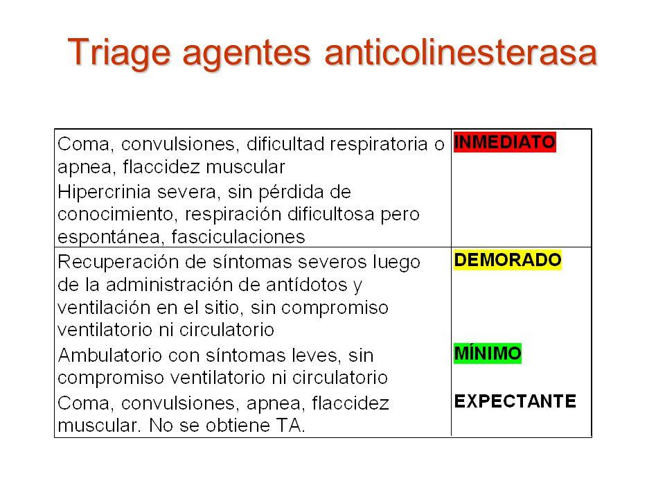 Triage agentes anticolinesterasa