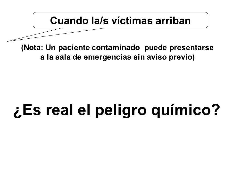 Cuando la/s víctimas arriban ¿Es real el peligro químico