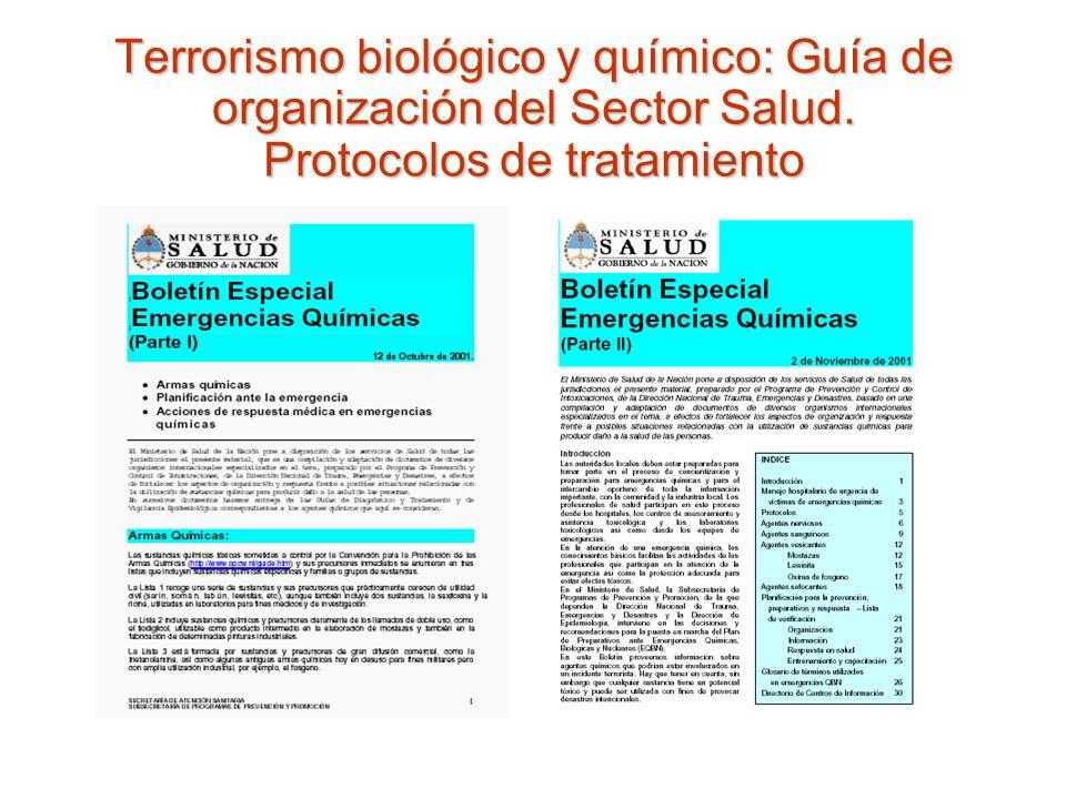 Terrorismo biológico y químico: Guía de organización del Sector Salud