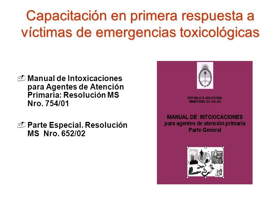 Capacitación en primera respuesta a víctimas de emergencias toxicológicas