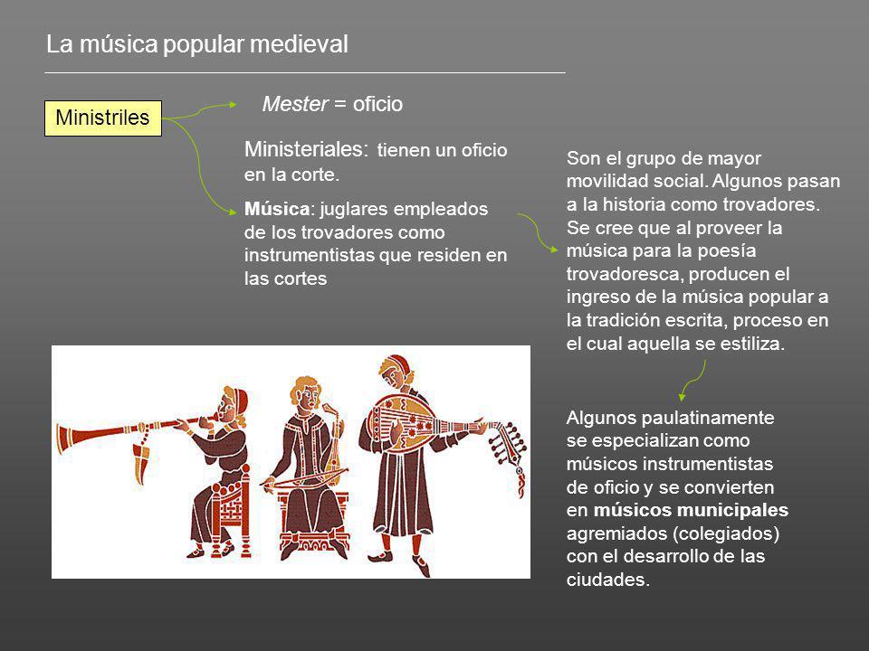 La música popular medieval