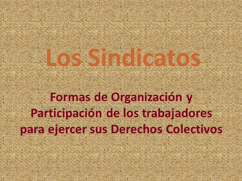 Los Sindicatos Formas de Organización y