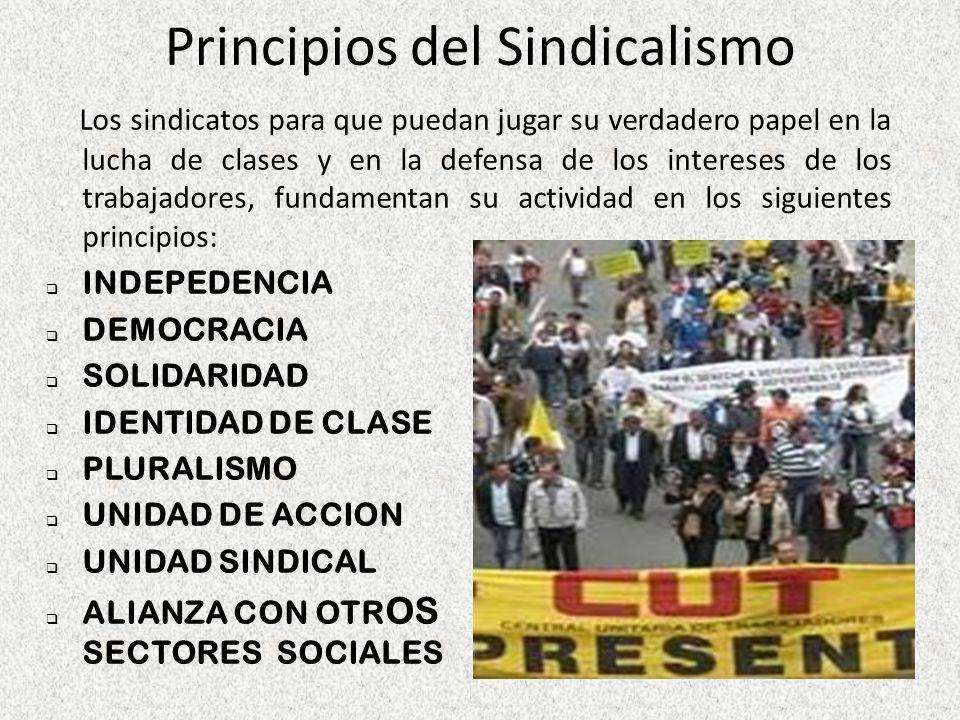 Principios del Sindicalismo