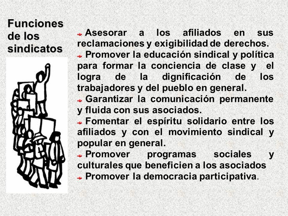 Funciones de los sindicatos