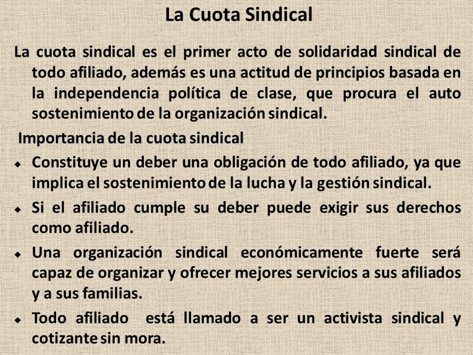 La Cuota Sindical