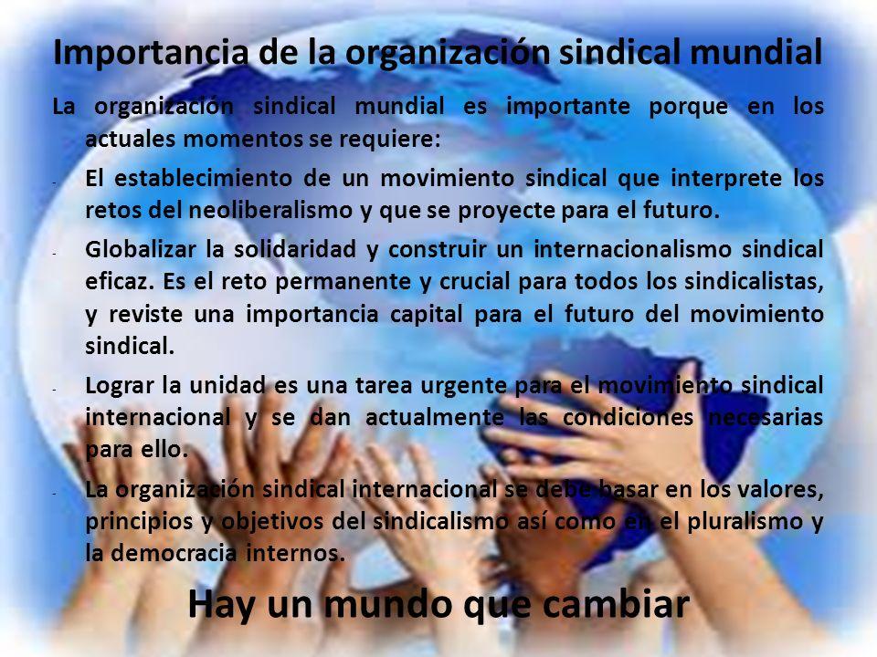 Importancia de la organización sindical mundial
