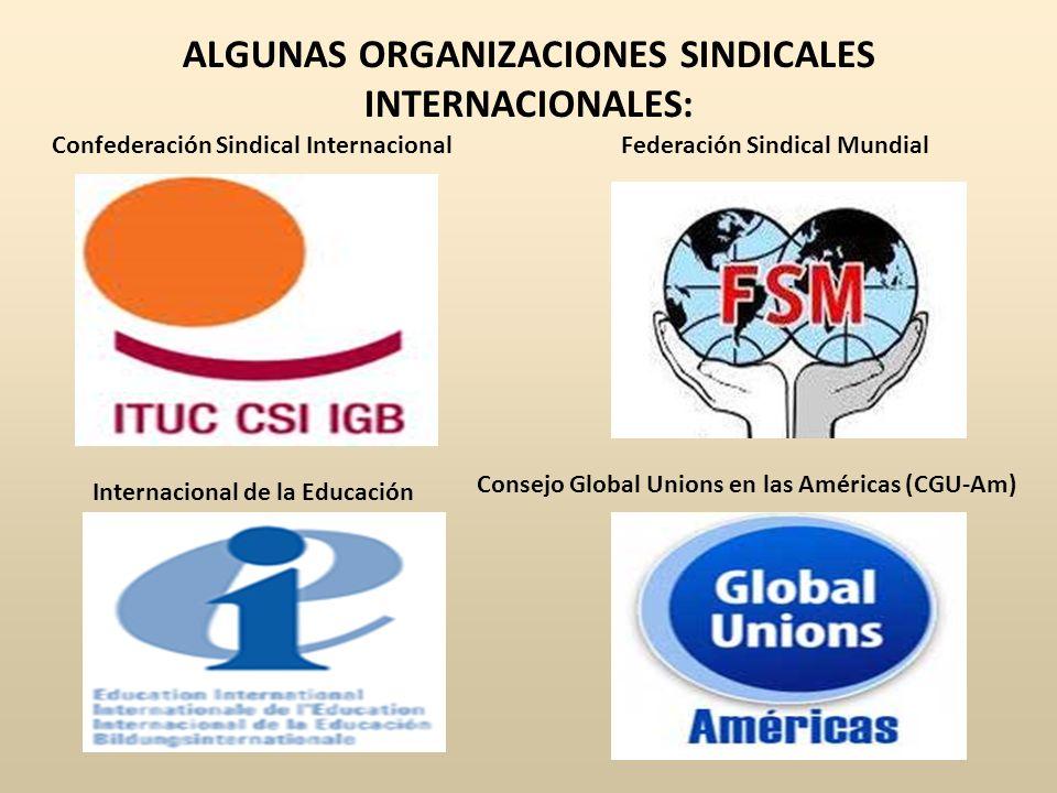 ALGUNAS ORGANIZACIONES SINDICALES INTERNACIONALES: