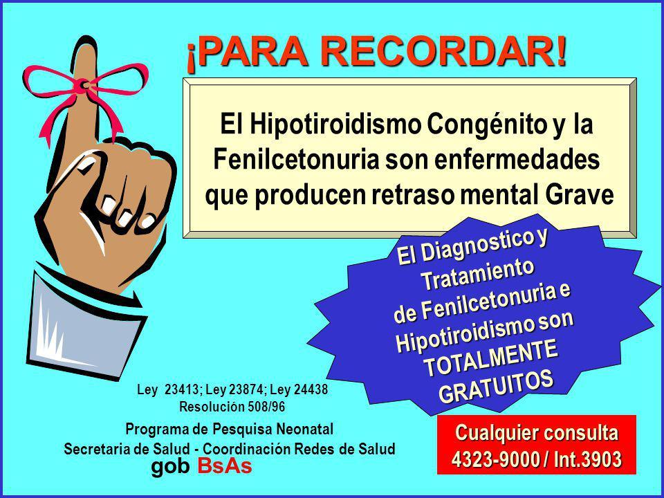 ¡PARA RECORDAR! El Hipotiroidismo Congénito y la