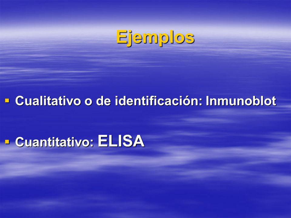Ejemplos Cualitativo o de identificación: Inmunoblot