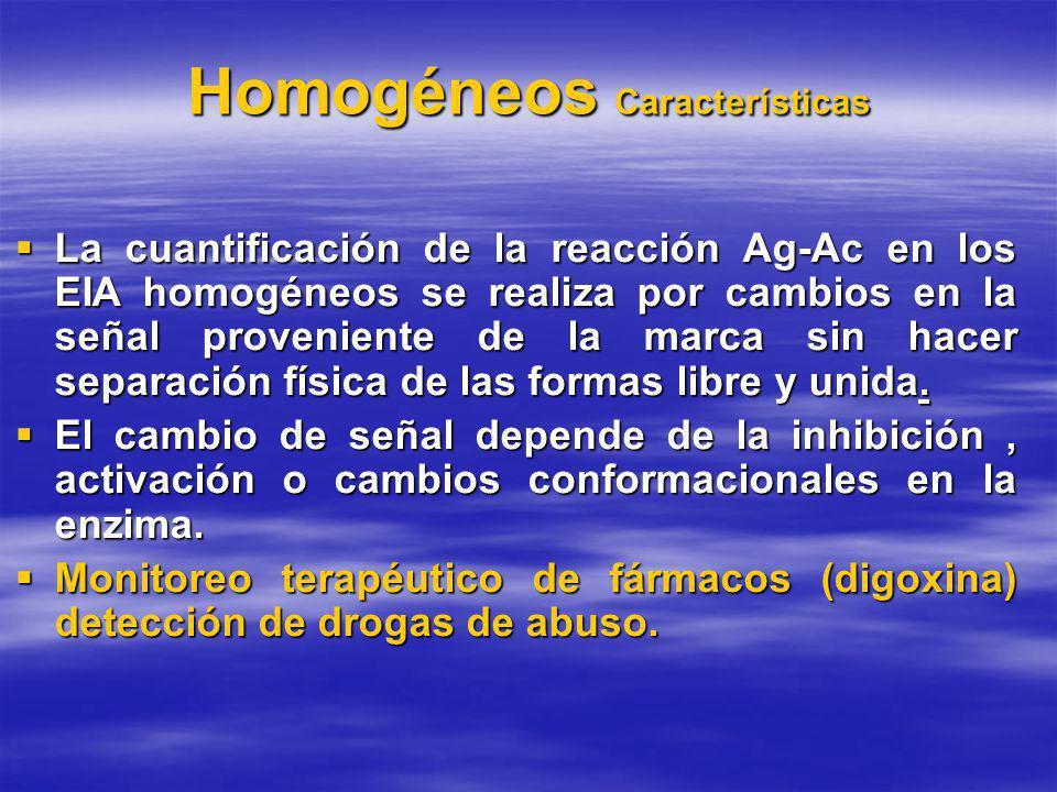 Homogéneos Características