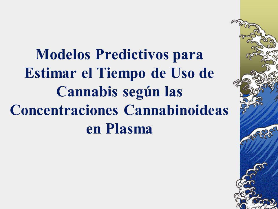 Modelos Predictivos para Estimar el Tiempo de Uso de Cannabis según las Concentraciones Cannabinoideas en Plasma
