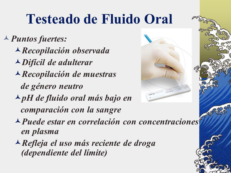 Testeado de Fluido Oral