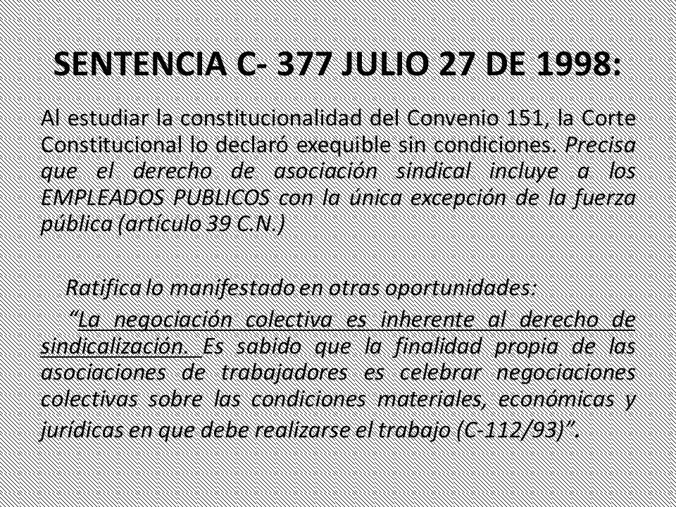 SENTENCIA C- 377 JULIO 27 DE 1998: