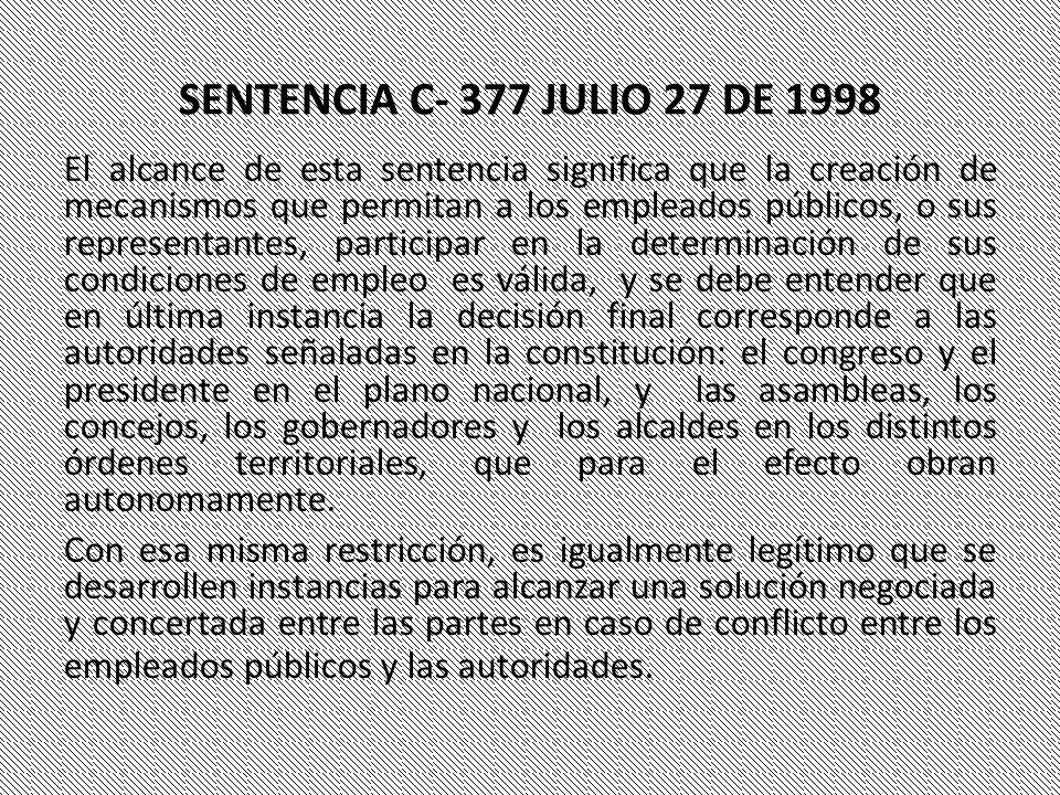 SENTENCIA C- 377 JULIO 27 DE 1998