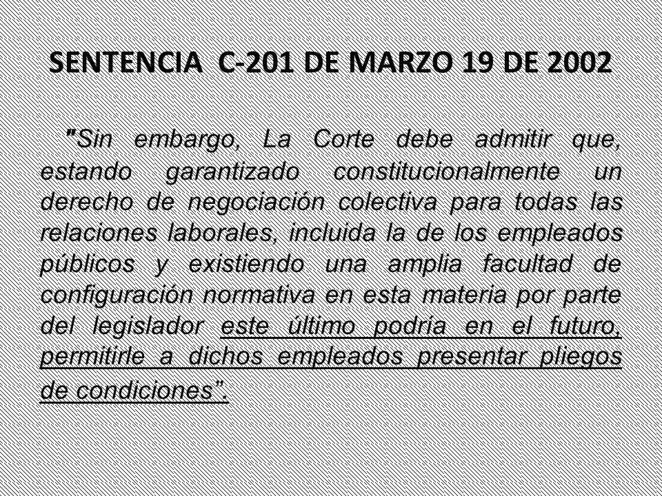 SENTENCIA C-201 DE MARZO 19 DE 2002