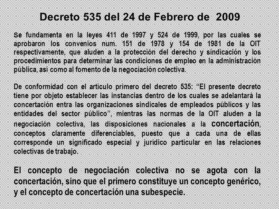 Decreto 535 del 24 de Febrero de 2009