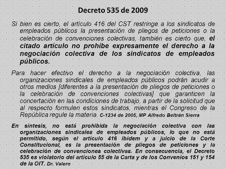 Decreto 535 de 2009
