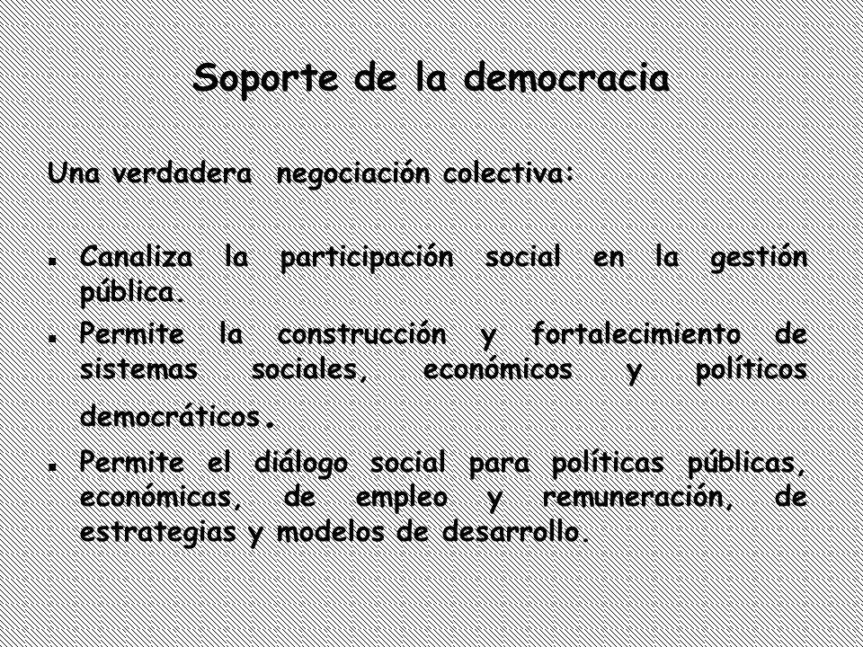 Soporte de la democracia