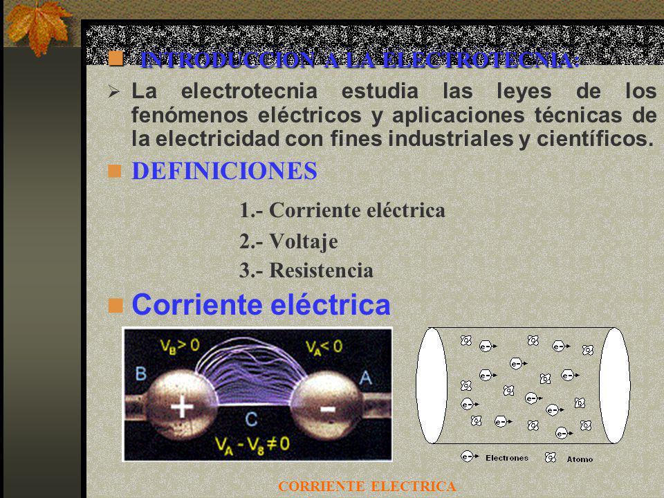 INTRODUCCION A LA ELECTROTECNIA: