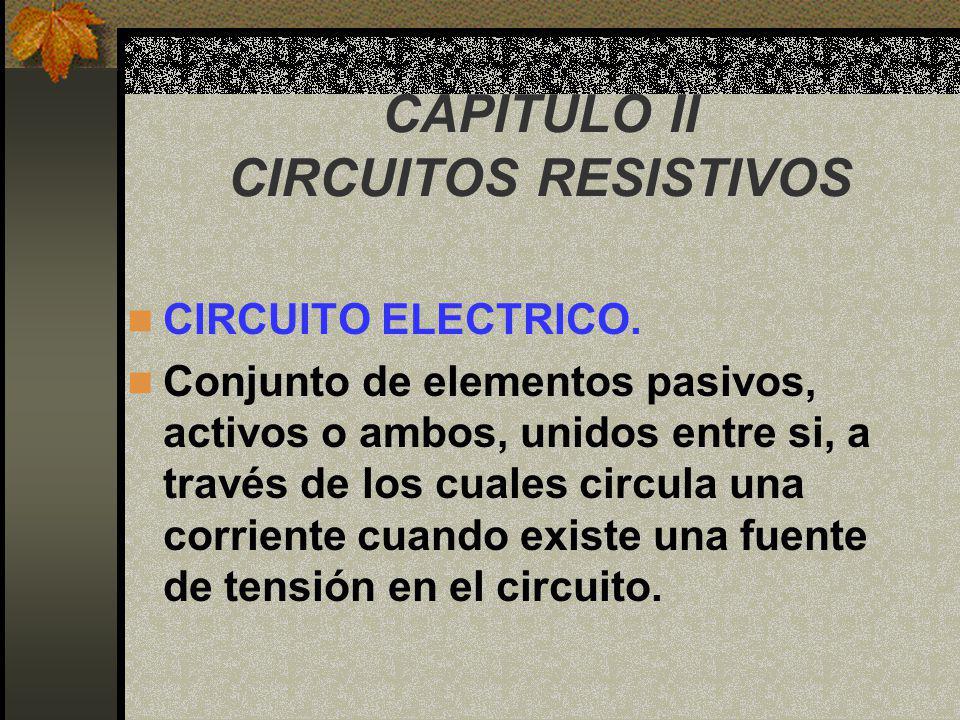 CAPITULO II CIRCUITOS RESISTIVOS