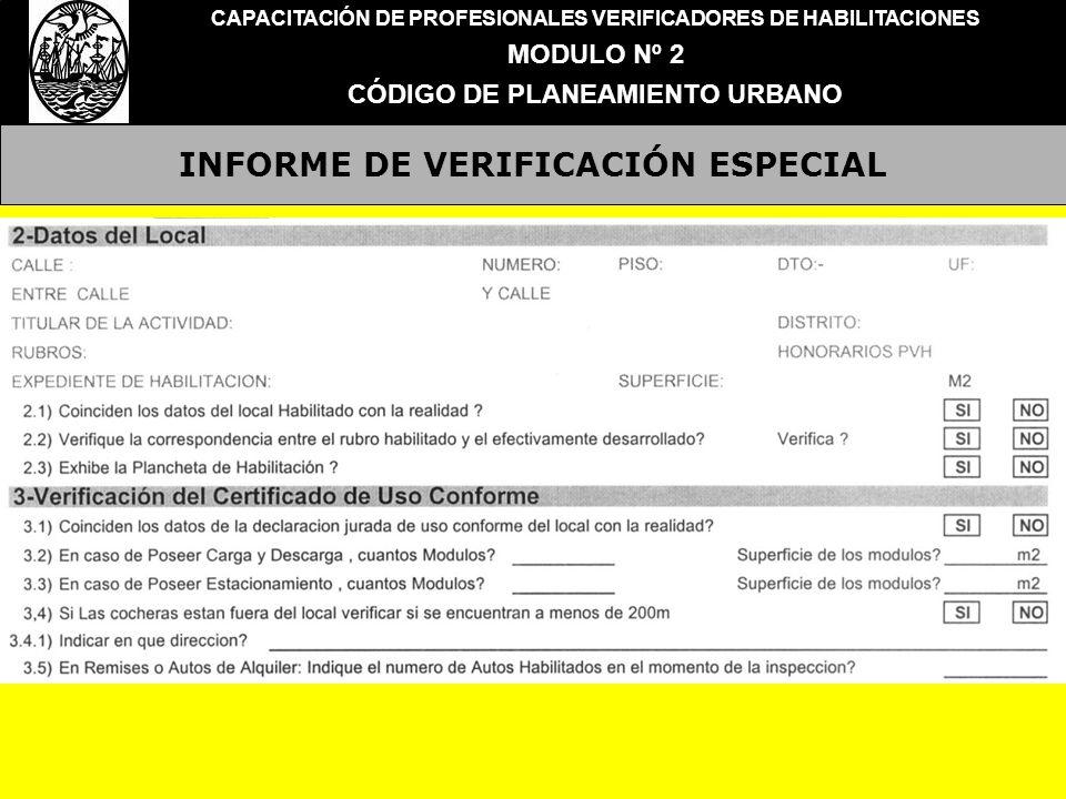INFORME DE VERIFICACIÓN ESPECIAL
