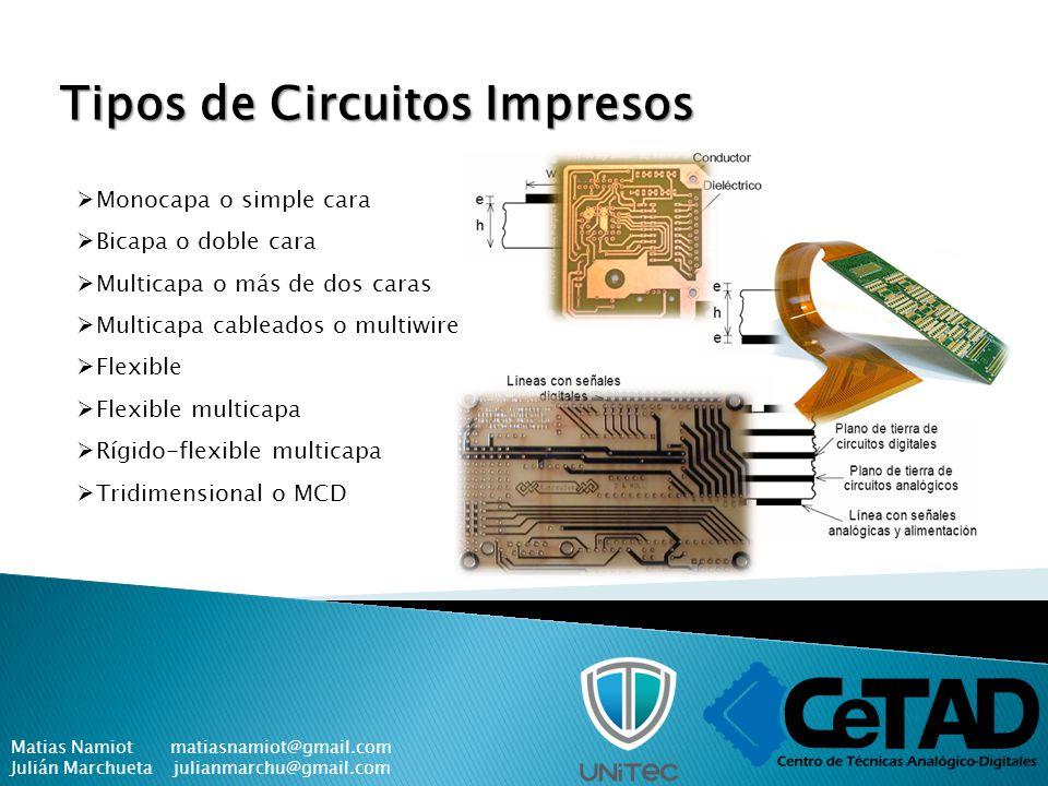 Tipos de Circuitos Impresos
